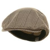 Big Size Elastic Plaid Fashion Ivy Cap - Beige W06S38F