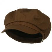 Big Size Cotton Newsboy Hat - Brown W07S31F