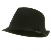 Big New Linen Fedora Hat - Black XL W09S69F