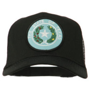 Texas State Seal Patched Cotton Twill Mesh Cap - Black W44S49B
