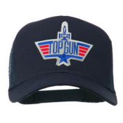Military Top Gun Patched Mesh Cap - Navy W42S37D