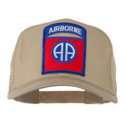 82nd Airborne Military Patched Mesh Cap - Khaki W42S47A