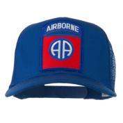 82nd Airborne Military Patched Mesh Cap - Royal W42S47A