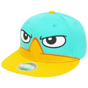 Phineas And Ferb Wheres Perry Platypus Twill Big Face Snapback Flatbill Hat Cap