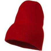 Big Stretch Plain Classic Short Beanie - Red W03S57F