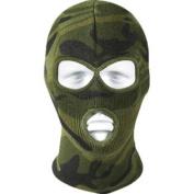 Woodland Camouflage Military Acrylic Three Hole Face Mask