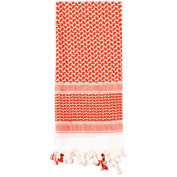 Red & White Shemagh Lightweight Arab Tactical Military Desert Keffiyeh Scarf