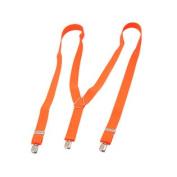 Metal Clip Style Orange Red Suspender Braces Adjustable