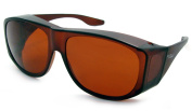Solar Shield Fits-Over Sunglasses - SS Polycarbonate II Amber / SOLAR SHIELD II AMBER POLYCARBONATE LENSES