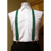 Forest / Hunter Green Suspenders set 2.5cm Men's X Back Clip Spencer J's