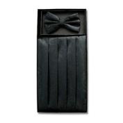 Cumberbund & BowTie BLACK PAISLEY Men's Cummerbund & Bow Tie Set