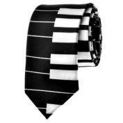 TopTie Unisex New Fashion White and Black Keyboard Piano Skinny 5.1cm Neck Tie