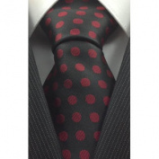 Black with Red Polka Dot Silk Necktie