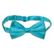 SILK BOWTIE Solid TURQUOISE AQUA BLUE Colour Men's Bow Tie for Tuxedo or Suit