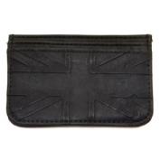 RELIGION Men's Black British Flag Credit Card Holder Wallet NA4053 $75 NWT