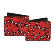 Spider-Man Marvel Comics Superhero Mask Collage Bi-Fold Wallets