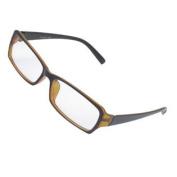 Women Plastic Full Frame Plain Spectacles Eyeglasses Black Brown