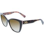 Women's Polarised DG4216-2790T5-55 Black Butterfly Sunglasses