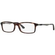 Ray-Ban RB7017 5200 Eyeglasses, Tortoise/Gunmetal Frame, Clear 54mm Lenses