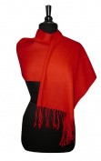 100% Wool Pashmina Scarf RED Colour Women's Shawl Wrap