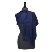 100% Wool Pashmina Scarf NAVY BLUE Colour Women's Shawl Wrap
