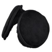 Men Women Black Plush Pad Winter Warming Ear Warmer Back Earmuffs
