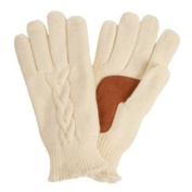 Isotoner Womens Ivory Cable Knit Gloves with Microluxe Lining Off White