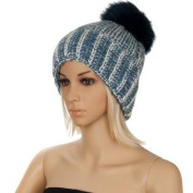 Melinda Ladies Warm Comfy Fall Winter Spring Knitted Beanie POMPOM Hat [One size fits most]