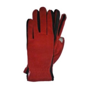Isotoner Smart Touch Womens Red Fleece Unlined Smartouch Texting & Tech Gloves