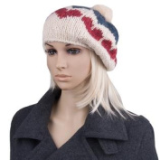 Origin Ladies Warm Fall Winter Spring Heart Beret Hat Cap [One size fits most]