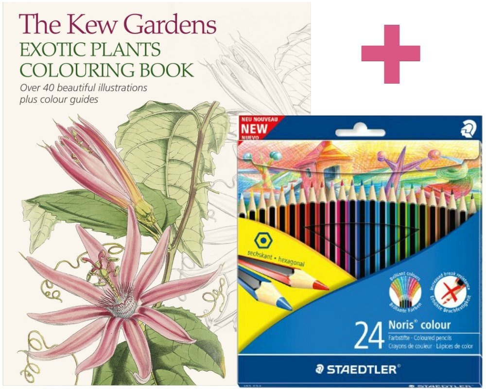Adult Colouring Set The Kew Gardens Exotic Plants