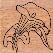 """Wooden stamp """"Lily sketch"""""""