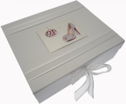 White Cotton Cards 21st Birthday Keepsake Box Glitter Ball and Shoes