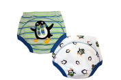 Penguin Potty Training Pants - PACK OF 2 (Medium 1.5-2 years) Size 11-12kg Inner Waterproof Layer, 100% Cotton, Embroidered Detail
