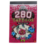 Transfer Temporary Tattoo Booklet - Flowers & Butterflies - 6 Sheets, various designs