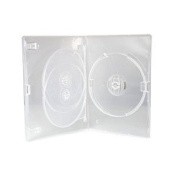 Media Replication CD / DVD / BLU RAY 14mm Clear DVD 3 Way Case for 3 Disc