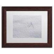 Kurt Shaffer 'Winters Bleak Beauty' White Matte, Black Framed Wall Art