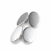 Sterling Silver Double-Sided Oval Cufflinks