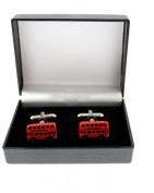 Zac's Alter Ego® Big Red London Double-Decker Bus Cufflinks in Gift Box