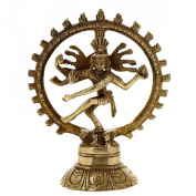 Dancing Shiva Nataraja Hindu God Religious Gifts Brass Sculpture 14.61 cm
