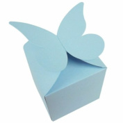 10 x Light Blue Large Butterfly Top Muffin / Cupcake Box 80mm x 80mm x 80mm