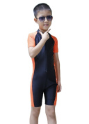 OUO Children Short Sleeve One-piece Swimwear Swimsuit Snorkelling Diving Wetsuit