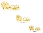 14k Yellow Gold Earring Back Replacement Secure and Comfortable with Ear Locking Tension Grip Tight Nut