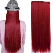 70cm 80cm Long Straight Thick 3/4 Half Full Head Clip in on Synthetic Hair Extensions Hairpieces
