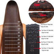 Womens Ladies 60cm 70cm Long Straight 8 Piece 18 Clips Full Head Clip in on Hair Extensions