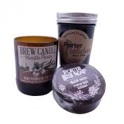Porter Beer Craft Gift Set - Beer Jelly Beer Candle and Beer Soap