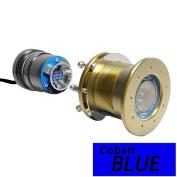 Bluefin LED Mako M12 - 24V Through Hull Underwater Light 6K Lumens Interchangeable Flush Mount - Cobalt Blue