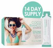 SOMATOX COCO BIANCO - Coconut Oil Pulling | Natural Teeth Whitening | 14 Day Supply - (Detox • Cleanse • Oral Health • Mouth Hygiene • Fresh Breath) Healthy Smile