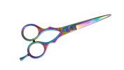 Suvorna Professional Barber Multicolor Titanium Razor Edge Hair Cutting Shears/Scissors Razeco E45, Multicolor, 350ml