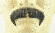 Rubies Winchester Moustache DARK GREY - no. 2028 - REALISTIC! 100% Human Hair